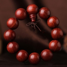 Chinese Wood Carved Red Sandalwood Hand String High Oil Zambian Blood Sandalwood Beads Exquisite Hand Strings Bracelet boutique gift brush set red sandalwood bar luozhiyunyan high end cents exquisite gifts
