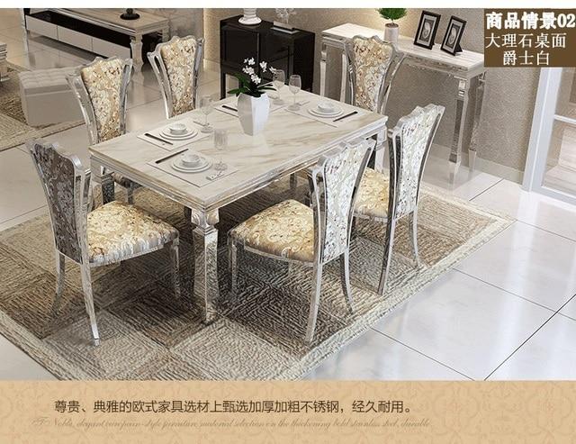 Bon À Manger Sets De Table à Manger En Marbre Table 4 Chaises Moderne élégante  Salle à