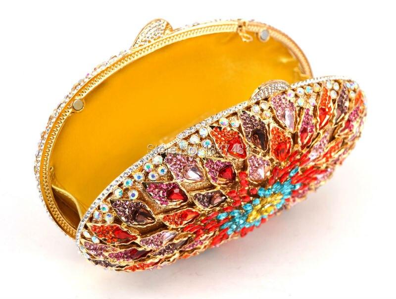 Date Silver Embrayage De Ovale Embrayages Diamant silver Oeuf champagne Bourse Soirée À Jour Sac Sacs Diamante Cristal Main Luxe Parti Multicolore Mode Sc518 red Golden gold DWEH92I