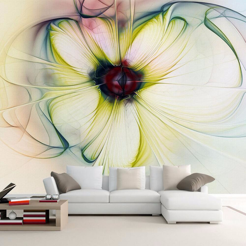 Modern Abstract Art Flower Photo Mural Wallpaper Living Room Dining Room Simple Decor Wallpaper Roll Papel De Parede 3D Paisagem