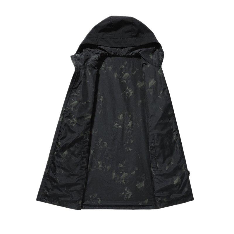 2019 spring autumn men's fashion casual hooded jackets Business High quality jacket men Windbreaker Coat mens Outwear - 5