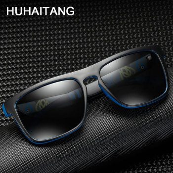 HUHAITANG Luxury Square Polarized Sunglasses Men Oversized Pattern Brand Men Sun Glasses For Women Designer Driving Sunglases 1