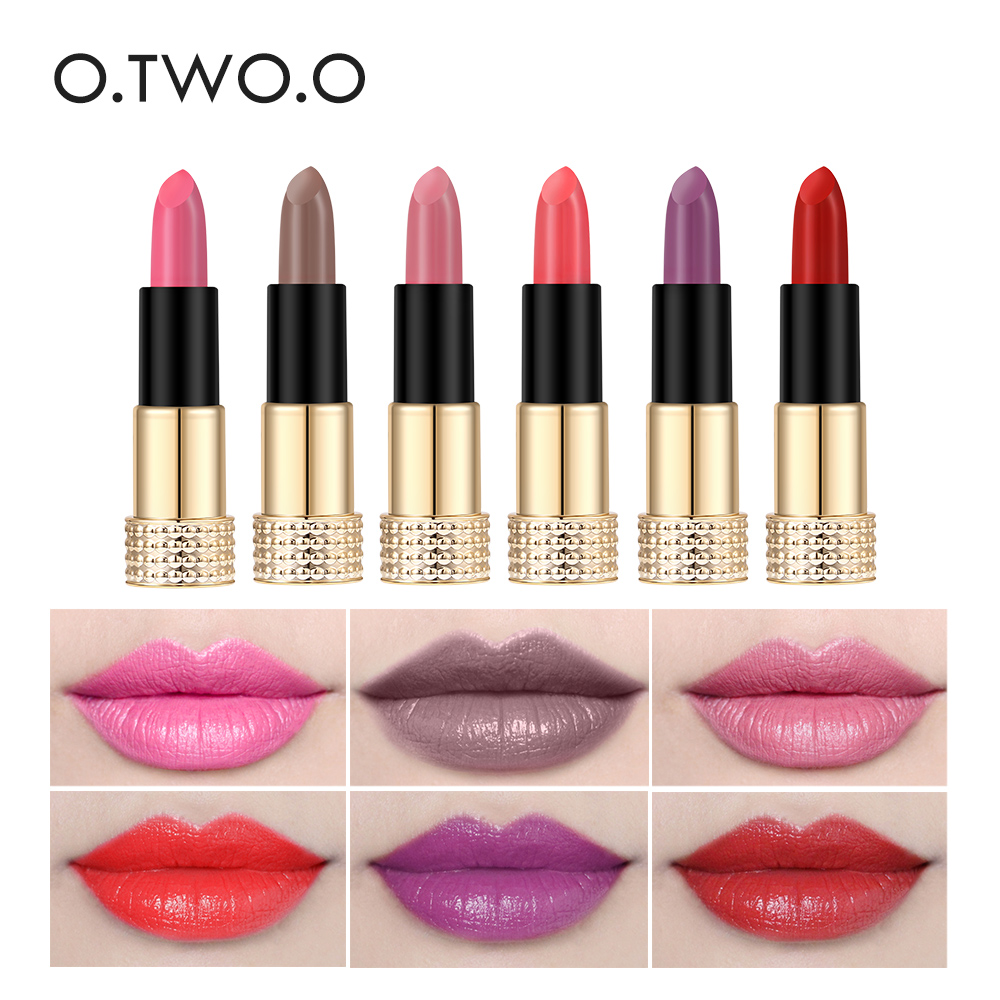 O. TWO. O 12 pièces/kit nouveau rouge à lèvres mat longue durée Kissproof imperméable mat lèvres maquillage brut lèvres 12 couleurs lèvres maquillage