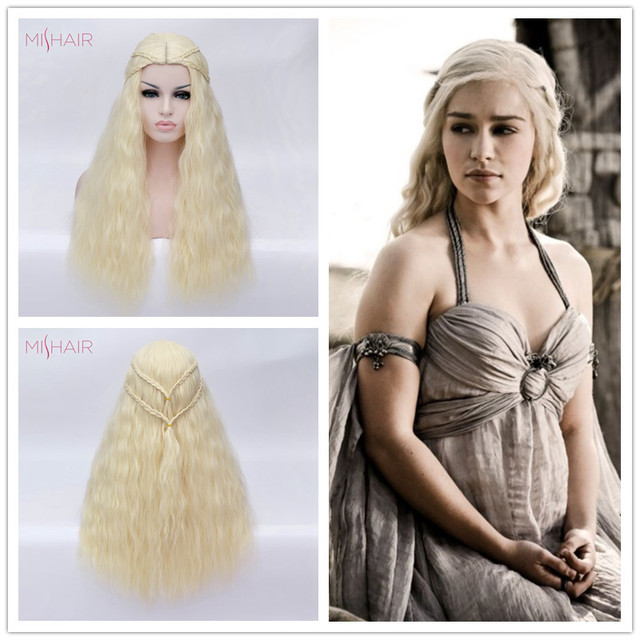 Mishair Daenerys Targaryen Cosplay Wig Game of Thrones Blonde Hair Wig Dragons Daenerys Targaryen Halloween Costume  sc 1 st  AliExpress.com & Mishair Daenerys Targaryen Cosplay Wig Game of Thrones Blonde Hair ...