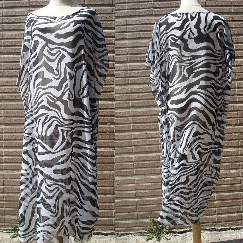 Image 3 - Chiffon Beach dress Cover up 2020 Tunics for Beach  Plus size Beach cover up Pareo de Plage Saida de Praia Beach SarongsCover-up   -