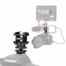 Ulanzi PT 3S Triple Heißer Schuh Mount Adapter Kalten Schuh Verlängern Monitor Mic Füllen Licht für Nikon Canon Sony DSLR Kamera zubehör