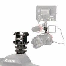 Ulanzi PT 3S Triple Hot Shoe Adattatore di Montaggio Scarpa Freddo Estendere Monitor Mic Luce di Riempimento per Nikon Canon Sony Dslr Camera accessori