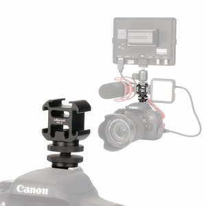 Image 1 - Ulanzi PT 3S Triple Hot Shoe Mount Adapter Cold Shoe Extend Monitor Mic Fill Light for Nikon Canon Sony DSLR Camera Accessories