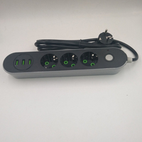 Smart USB Power Strip Socket EU Plug 3 Outlet 3Port USB Charger 2M 1 4M Power