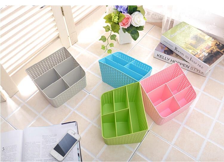 Simple life Desktop sundries pen pencil storage basket organizer vintage container storage basket plastic box storage box 4