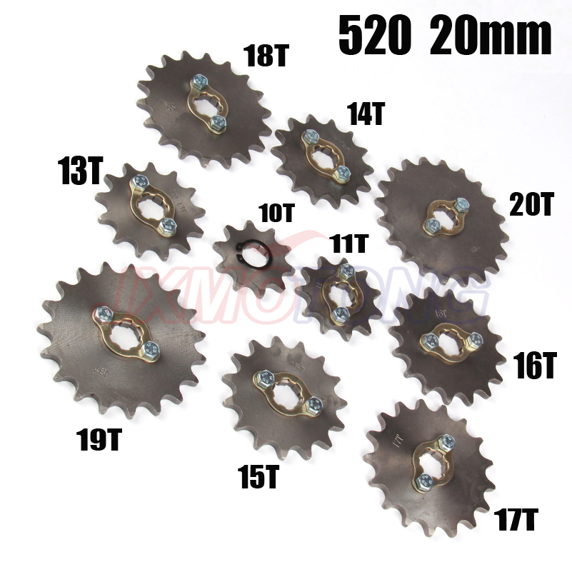 11T 20mm Front Sprocket For 520 Chain Zongshen Lifan Engine Pit Bike Off Road