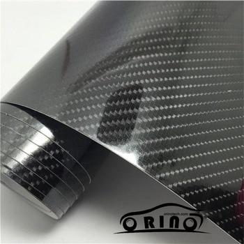 Size:1.52*20M/Roll Ultra Gloss 5D Carbon Fiber Vinyl Wrap 4D Texture Super Glossy 5D Carbon Wraps With Air Bubble Free