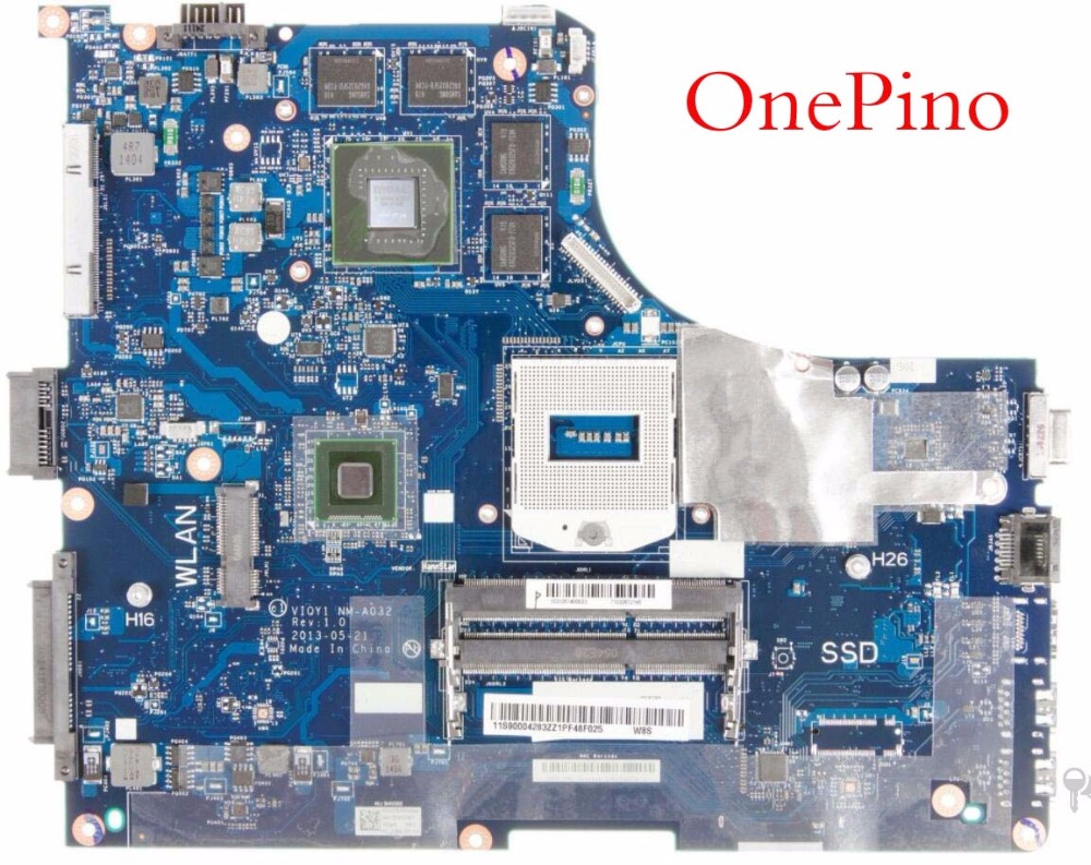Y510P system board VIQY1 NM-A032 REV:1.0 Y510P laptop motherboard for Lenovo Y510P NM-A032 GT750/755 Not support i7 working original power switch button board with cable for lenovo ideapad y500 y510p series ls 8691p nbx0001730j ns a032