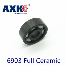 Axk 6903 Full Ceramic Bearing ( 1 Pc ) 17*30*7 Mm Si3n4 Material 6903ce All Silicon Nitride Ceramic 6903 Ball Bearings 685 full ceramic bearing 1 pc 5 11 3 mm si3n4 material 685ce all silicon nitride ceramic 618 5 ball bearings