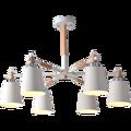 Креативная простая 3/6/8 голова из цельного дерева светодиодная люстра лампа для гостиной белые черные потолочные люстры освещение