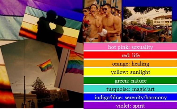 Lesbian Non-Woven Fabric Pride Rainbow Banner 10PCS lot