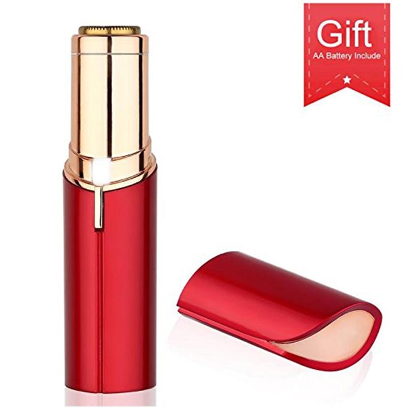 Portable USB Rechargable Electric Painless Hair Removal For Body Facial Depilator Lipstick Neck Leg Shaving Hair Remover Tool