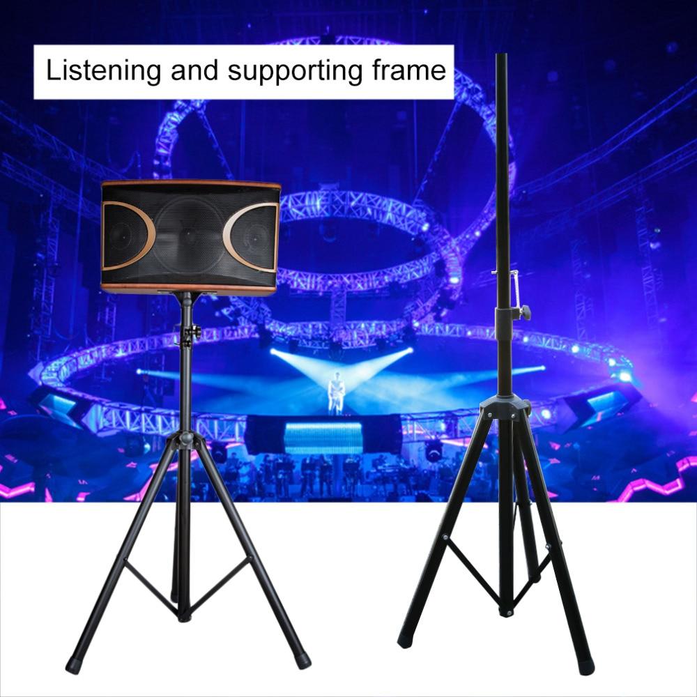 Universal 100lbs Folding Speaker Stand Tripod Speaker Mount Speaker Stand Surround Speaker Mount Tripod NEW цены
