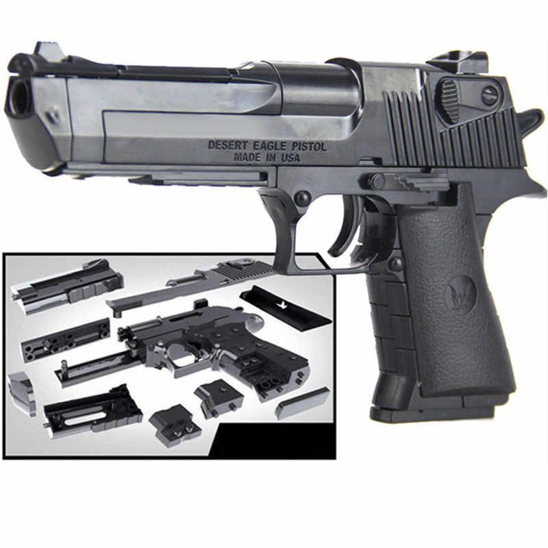 Militärische Waffe Bausteine Sets Waffe Beretta und Gunsight Können Feuer Kugeln Brinquedos Montage Ziegel Pädagogische Kinder Spielzeug