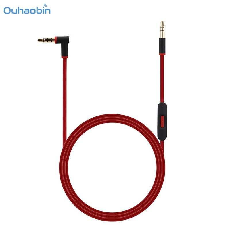 Ouhaobin 3,5 мм Замена аудиокабеля провода с микрофоном для Beats by dr dre наушники аудио кабель многоцветные кабели AUX Oct23