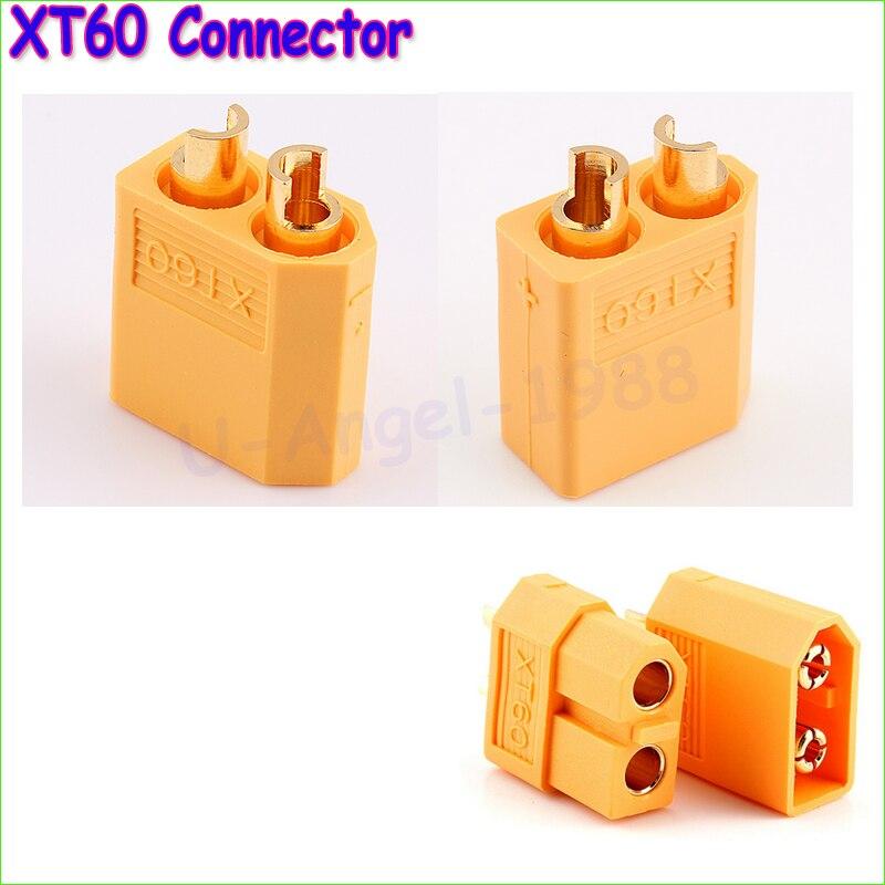 20pcs XT60 XT-60 Male Female Bullet Connectors Plugs For RC Lipo Battery (10 pair) Wholesale Dropship 75ohm coaxial female connectors plugs 5 pcs