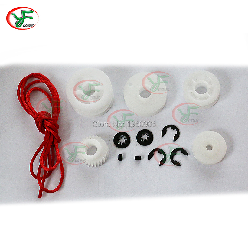 Claw Crane Game Machine Accessories Gantry Parts Pulley, red rope, screw, circlip, gear, belt...