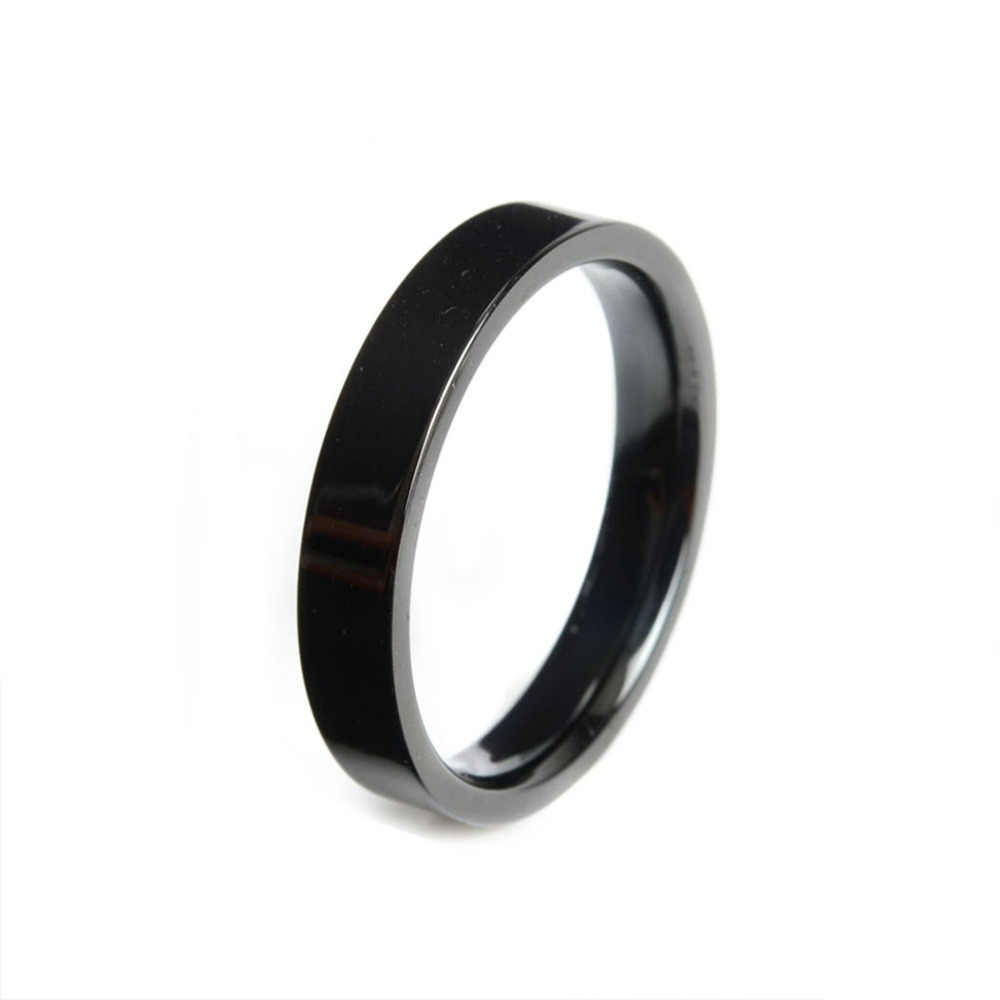 Hot New High Quality 4mm Wide Round Stainless Steel Ring Anillos Mujer Bague Homme Rings for Women Bague Femme