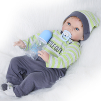 22 Inch Fashion Newborn Doll Full Silicone Body Lifelike Reborn Baby Dolls 55cm Alive Reborn Bonecas