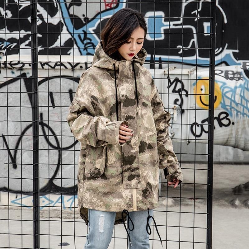 Longue Printemps À Manteaux Femmes Et Désert Camouflage De Automne Color Section Cordon Style Photo Outillage Capuchon Vestes Européenne Nouveau 2018 X0257 POqSTdP