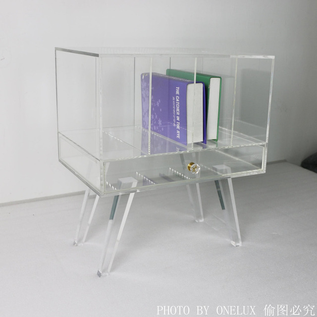 table de chevet plexiglas interesting table gigogne en. Black Bedroom Furniture Sets. Home Design Ideas