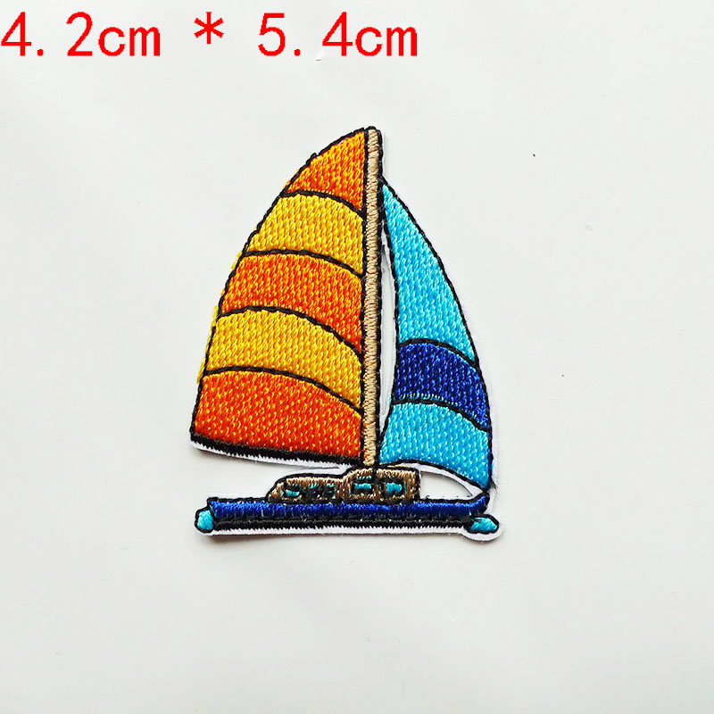 Sail Boat Sea Ship Patch Patches DIY Embroidery Patches Iron Patches 8C