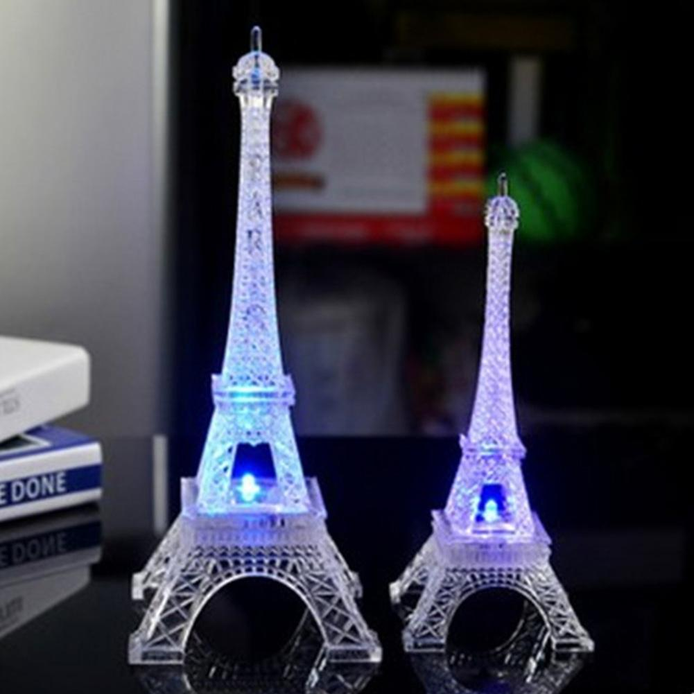 SOLLED Colorful 3D Lamp LED Night Light The Eiffel Tower Illusion Night Lamp Table Desk Lamp Home Lighting
