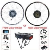 48V 500W Front /Rear Motor Wheel Electric Bike Kit 48V Hub Wheel Motor E Bike Kit 202426700C LCD Electric Bike Conversion Kit