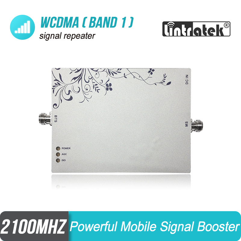 Lintratek 3G Amplifier Cellular Signal Booster WCDMA Band 1 FDD 2100MHz Repeater 3G 2100 4G 2100 LTE UMTS For Europe & Asia # 6