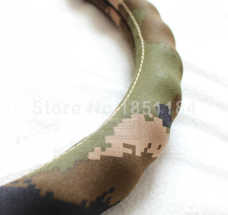 Calssic-Man-Wave-Camo-Cloth-Auto-Grip-Steering-Wheel-Covers-15-inch-38CM-Green-l2