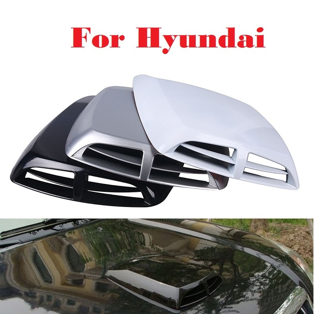 Abs functional hood air flow vent cooling duct car stickers for hyundai accent aslan atos avante