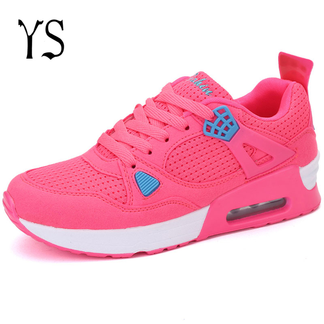 YS 2016 Runners Womens Shoes Sport Walking Breathable Female Chaussure Femme Tenis Feminino Tenisky Footwear Krasovki H-020