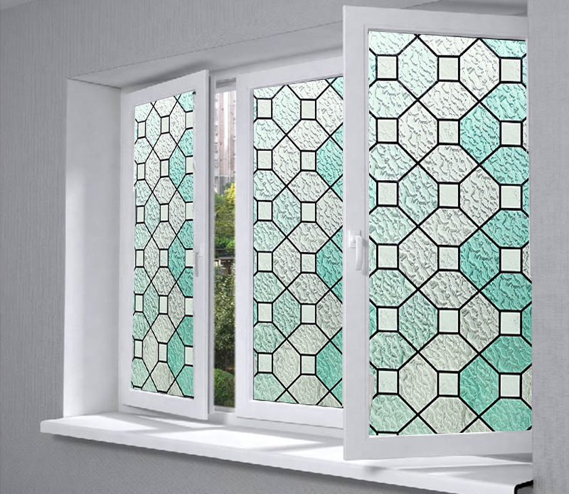 stained glass window cling film
