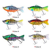 6pcs Fishing Lures Wobblers Swimbait Crankbait Hard Bait Isca Artificial Tackle Lifelike Lure 7 Segment 10cm 15.6g