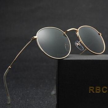 جولة النظارات الشمسية المرأة زجاج عدسة العلامة التجارية مصمم نظارات شمسية كلاسيكية نظارات شمس أنيقة سبيكة إطار نظارات مرآة 3447 UV400
