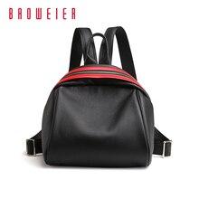Baoweier Рюкзаки Школьные сумки для Для женщин бренд Пояса из натуральной кожи черный мешок Топ Слои коровьей Для женщин 3036