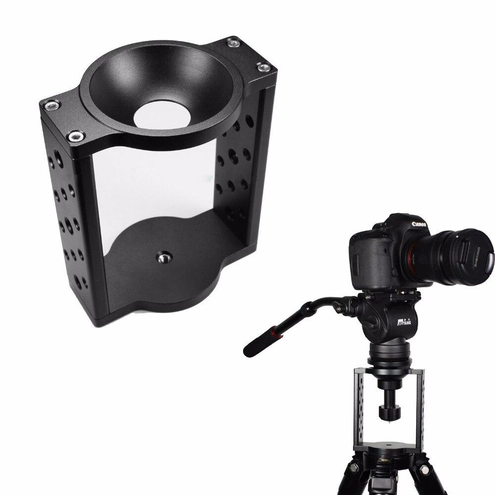 65mm 75mm Half Ball Flat to Bowl Adapter Riser Cradle Converter for Video Tripod Fluid Head