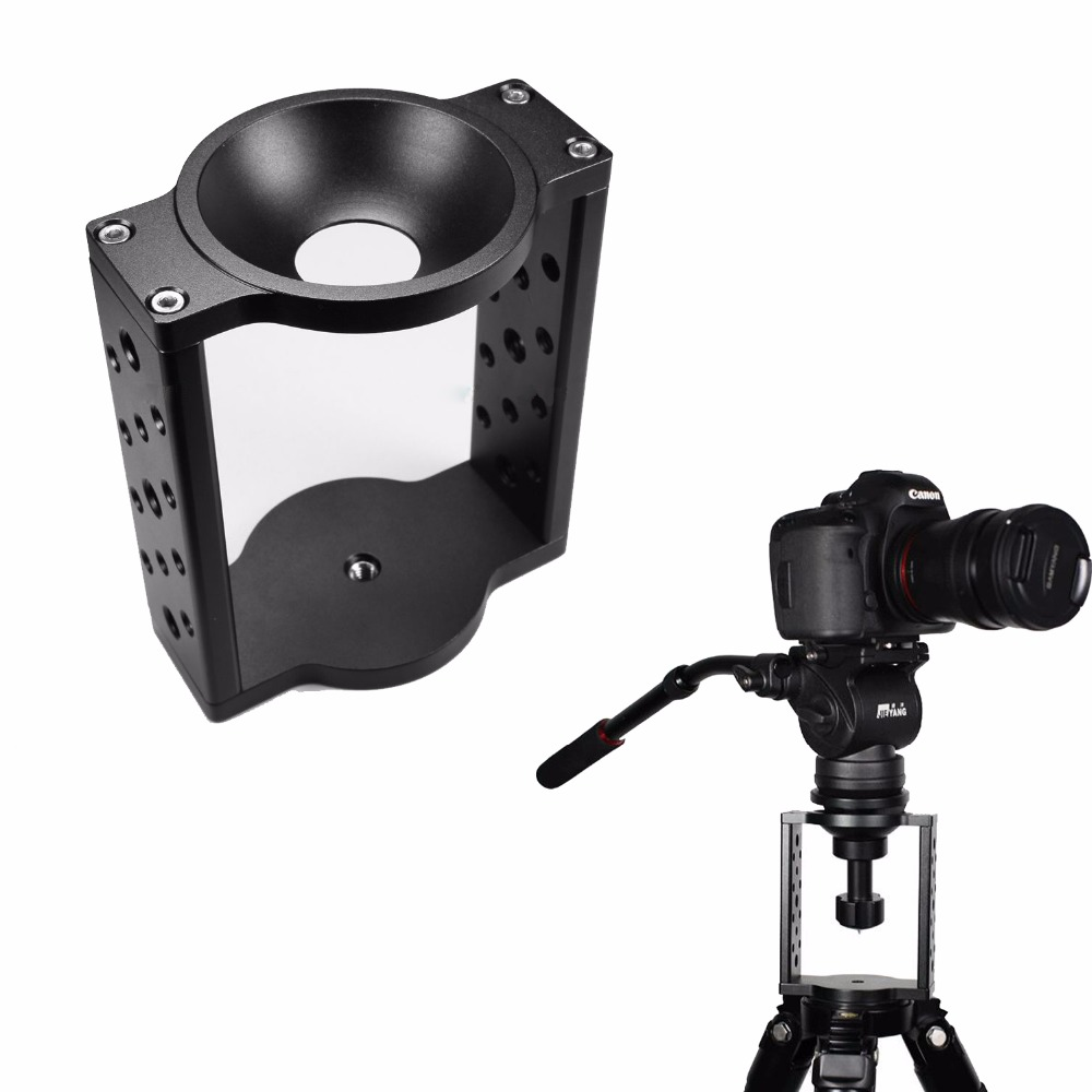 65mm 75mm Half Ball Flat to Bowl Adapter Riser Cradle Converter for Video Tripod Fluid Head DSLR Rail Slider Dolly
