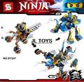 Newest ninjagoes 2in1 building block Three wheeled Chariot elephant mech bricks Ninja Cole Zane mini blocks compatible withlegos