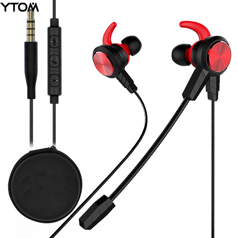 3.5mm Wired Gaming Headphone with Detachable HD mic for PS4, Laptop Computer, Cellphone, E-sport Earburds earphone for PC gamer