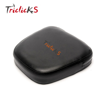 Triclicks Motorcycle Universal Sissy Bar Backrest Cushion Pad Seat Cover Pads Black Synthetic Leather Passenger Sissy