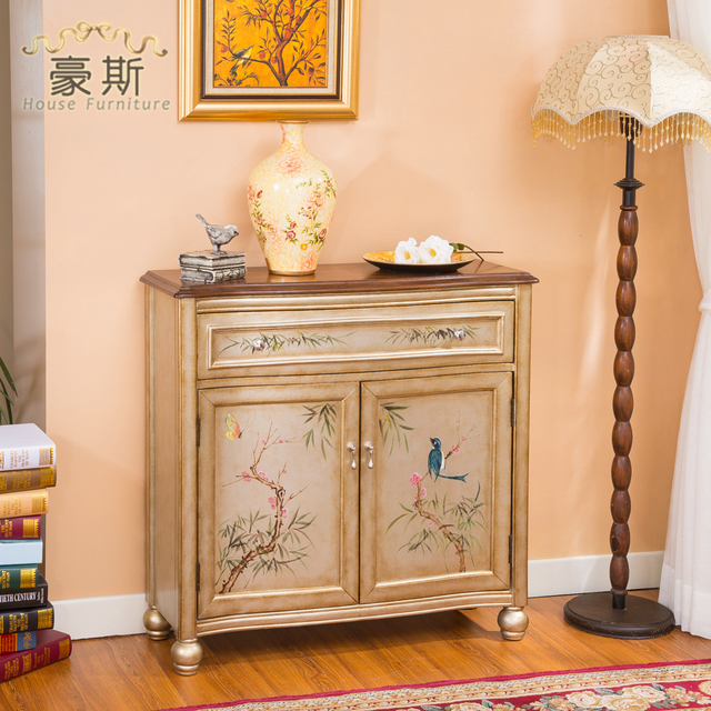 House Furniture Hand Painted Shoe Single Bucket Two Lockers Storage Cabinets Entrance Cabinet Specials