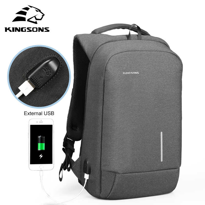 3d03d36fc0e4e Kingsons New Arrivals 13 15.6 inches Men Laptop Backpack Large Capacity  Backpack Casual Style Bag Water