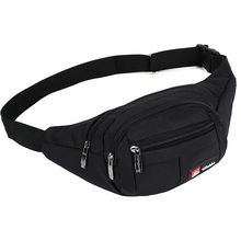 Waist Packs Nylon Casual Men Bag Fashion Multifunction Fanny Women Bum Hip Pouch with Three Zipper Pocket Bags
