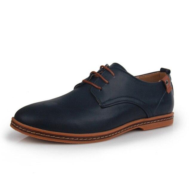 Мужчины Обуви Кожа Мужчин обувь Повседневная Обувь Плюс Размер 5 цвета Моды для Мужчин Оксфорд Круглым Носком Офис Классические Мужчины Платье обувь